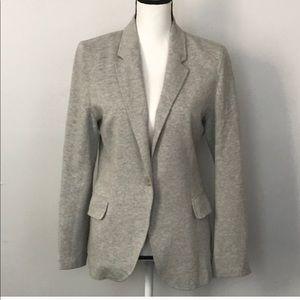 HOLD Boston Proper Gray Cotton Blazer